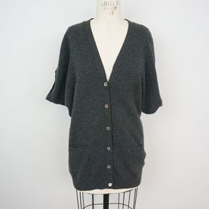 Vince Short Sleeve Cardigan Sweater Cashmere